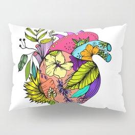 Corazón con flores Pillow Sham