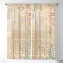 Experimental pattern 41 Sheer Curtain