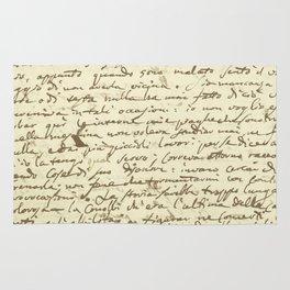 Original Paganini letter Rug
