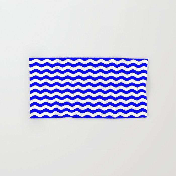 Wavy Stripes (Blue/White) Hand & Bath Towel