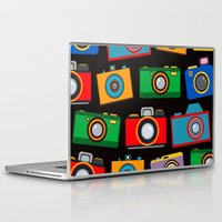 cameras Laptop & iPad Skins featuring colourful cameras by vitamin