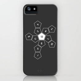 Grey Unrolled D12 iPhone Case