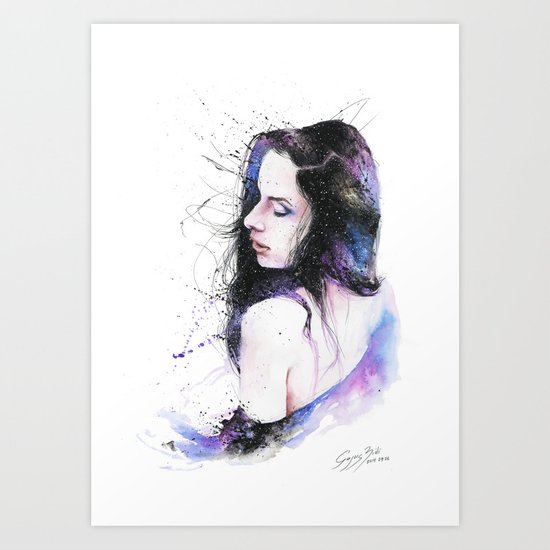A second of eternity Art Print