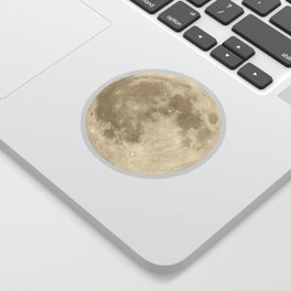 shiny moon phases on black / with stars Sticker