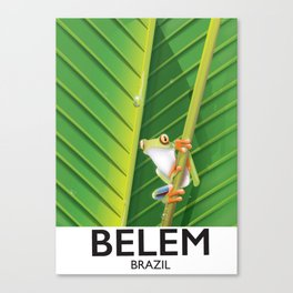 Belem Brazil travel poster Canvas Print