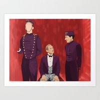 the grand budapest hotel Art Prints featuring The Budapest by Jenna McCloskey