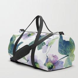 Purple Flowers 2 Duffle Bag