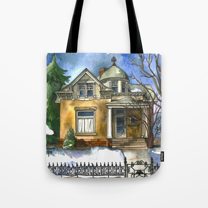 The Little Brown House Tote Bag