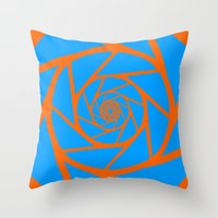aperture Throw Pillows featuring Aperture Vector by Alli