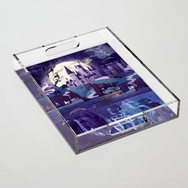 The Castle on the Hill Acrylic Tray
