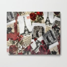 Postcards from Paris Metal Print