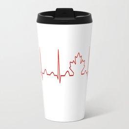 CANADA IN MY HEARTBEAT Travel Mug