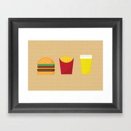 Fast Food Deluxe Framed Art Print