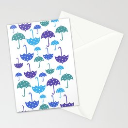 Umbrella pattern Stationery Cards