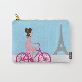 Cycling in Paris Girly Chic Carry-All Pouch