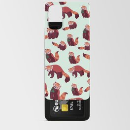 Red Panda Pattern Android Card Case