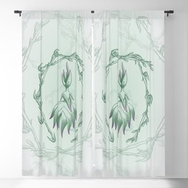 Succulent Sprite - black beauty aloe Blackout Curtain