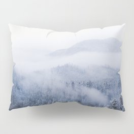 Snowy Washington Mountains from Above Pillow Sham