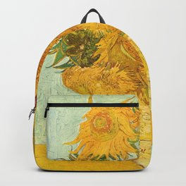 Vincent Van Gogh Sunflowers Vintage Painting Backpack