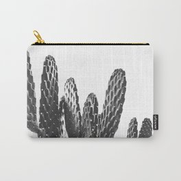 Cactus Photography Print {3 of 3} | B&W Succulent Plant Nature Western Desert Design Decor Carry-All Pouch