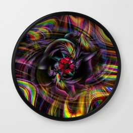 Flowers magic roses 8 Wall Clock