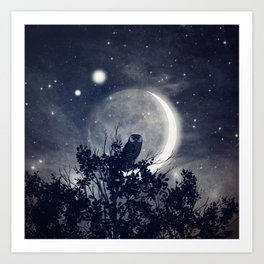 A Night With Venus and Jupiter Art Print