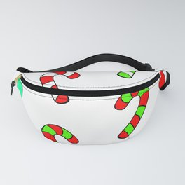 Christmas Lights and Candy Canes Fanny Pack