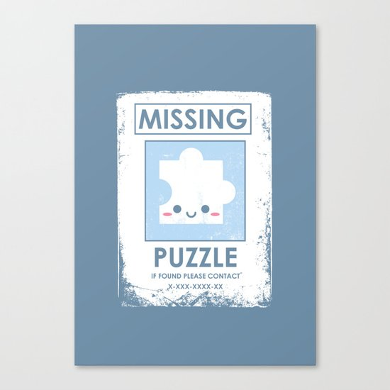 The Missing Puzzle Canvas Print