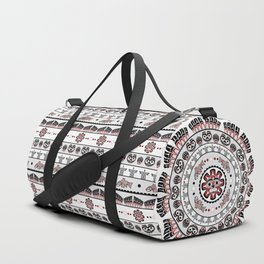 Pacific Northwest Native American Art Mandala Duffle Bag
