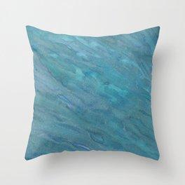 Blue Shimmer Throw Pillow