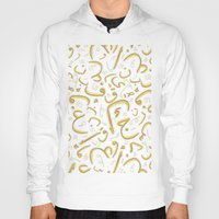 letters Hoodies featuring Golden Letters by LightCircle