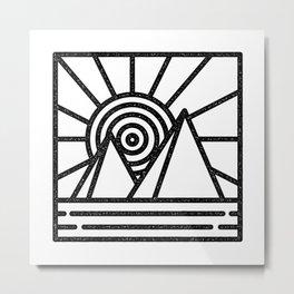 minmal mountain Metal Print