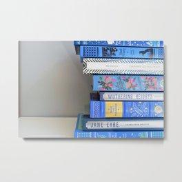 Shelfie in Blue 1 Metal Print