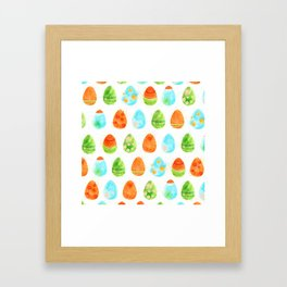 Easter Eggs Framed Art Print