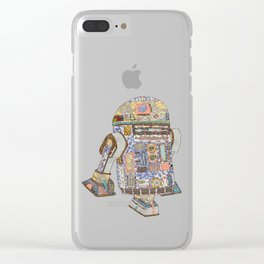 R2D2 Crashed Into A Flower Shop Clear iPhone Case