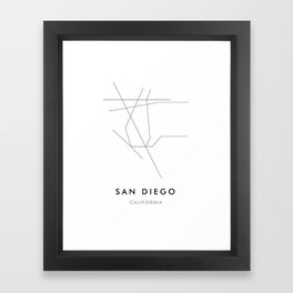 San Diego, CA Framed Art Print