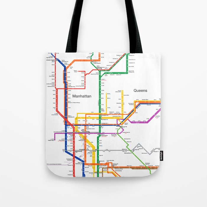 Map Of New York Subway Map.New York City Subway Map Tote Bag By Igorsin