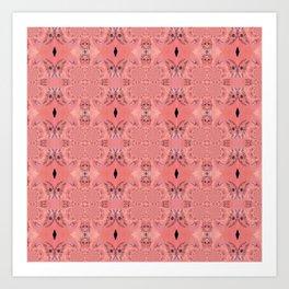 Decorative Pink Inspired Kaleidoscope Art Print