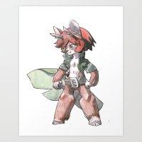 furry Art Prints featuring furry by Joël Jurion