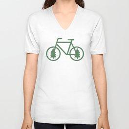 Pacific Northwest Cycling - Bike, Bicycle, Portland, PDX, Seattle, Washington, Oregon, Portlandia Unisex V-Neck