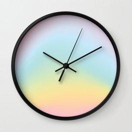 Holographic Rainbow Printable Art, Kids room decor, Rainbow Nursery Print, Happy Room Decor, Abstrac Wall Clock