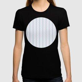 Criss Cross Column Pattern T-shirt