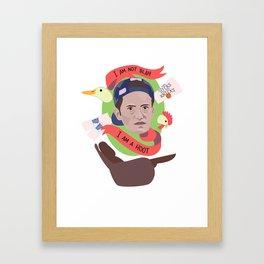 I am Not Blah... I am a Hoot! - Chandler Muriel Bing Framed Art Print