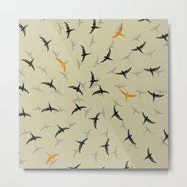 spiral birds Metal Print