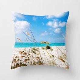 Half Moon Bay dunes, Turks & Caicos Throw Pillow