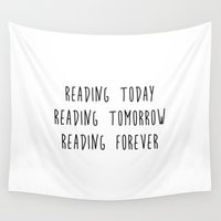 reading Wall Tapestries featuring Reading by IA Apparel