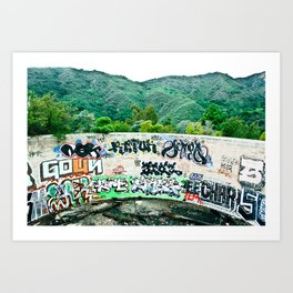 Pit In The Canyon Art Print