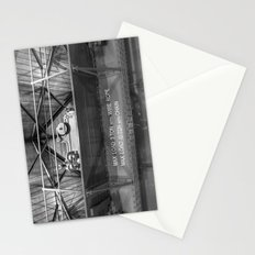 Gantry crane in black and white Stationery Cards