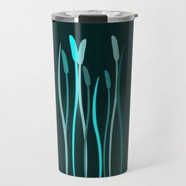 Turquoise Grasses Travel Mug