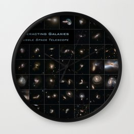 NASA Hubble Space Telescope Poster - Interacting Galaxies Wall Clock